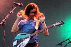 Kevin Parker, vocalist and guitarist of Tame Impala, psychedelic rock band, performs at Heineken Primavera Sound 2013 Festival Stock Photo