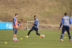 Kevin-prince Boateng et Maurice Multhaup Photos stock