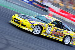 Kevin Rajoo drifting at Formula Drift 2010 Royalty Free Stock Photo