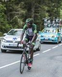 Kevin Reza op Col. du Tourmalet - Ronde van Frankrijk 2014 stock fotografie