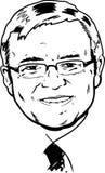 Kevin Rudd portrait - black and white Version stock photo