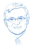 Kevin Rudd portrait - Pencil Version Stock Photo