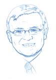 Kevin Rudd portrait - Pencil Version stock photo