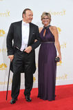 Kevin Spacey & Ashleigh Banfield. LOS ANGELES, CA - AUGUST 25, 2014: Kevin Spacey & Ashleigh Banfield at the 66th Primetime Emmy Awards at the Nokia Theatre Stock Photography