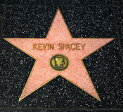 Kevin Spacey Star on the Hollywood Walk of Fame. HOLLYWOOD, CA/USA - APRIL 18, 2015: Kevin Spacey star on the Hollywood Walk of Fame. The Hollywood Walk of Fame Royalty Free Stock Photo