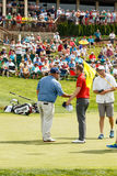 Kevin Stadler and Chris Kirk at the Memorial Tournament Royalty Free Stock Image