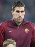 Kevin Strootman. Player of AS Roma, pictured before the Europa League match against Astra Giurgiu, 0-0 the final score royalty free stock photo