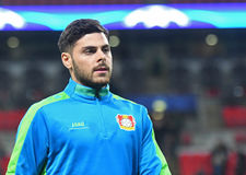 Kevin Volland. Football players pictured prior to UEFA Champions League Group E game between Tottenham Hotspur and Bayer Leverkusen on November 2, 2016 at Royalty Free Stock Photos