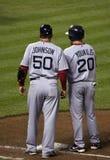 Kevin Youkilis et Ron Johnson photos libres de droits