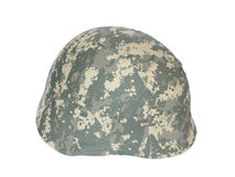 Kevlar helmet acu camouflage isolated Royalty Free Stock Images