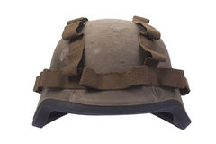 Kevlar helmet with camouflage cover Stock Images