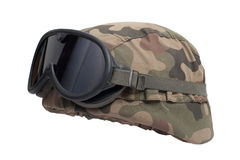 Kevlar helmet with camouflage cover Royalty Free Stock Images