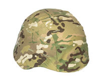 Kevlar helmet multicam camouflage isolated Stock Photos