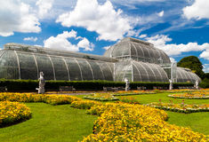 Kew gardens greenhouse in London stock photo