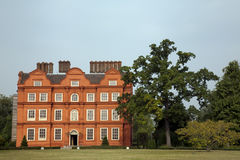 Kew palace at Kew Gardens in London. The building today known as Kew Palace and opposite the old palace, was originally a mansion known as the Dutch House. It is Royalty Free Stock Photos