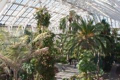 Kew trädgårds- tempererat hus Fotografering för Bildbyråer