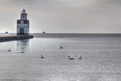 Kewaunee Pier Head, WI lizenzfreies stockfoto