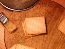 Kex - butterbiscuits - kök Fotografering för Bildbyråer