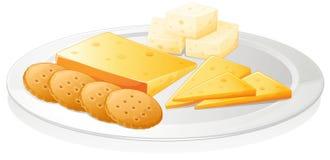 Kexar och ost royaltyfri illustrationer