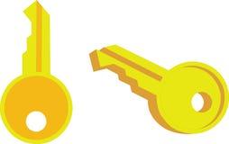 Key 01. Key set in color 01 stock illustration