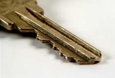 Key. Photo of a key / brass finish royalty free stock photo