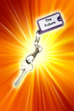 Key. To the future concept Royalty Free Stock Photos