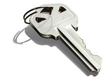 Key. 3D detailed illustration of a door key Royalty Free Stock Photography