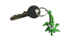 Key. With a chain (on white Royalty Free Stock Photography