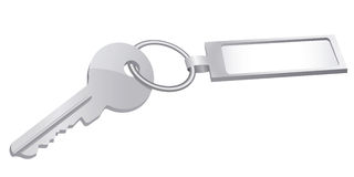 Key. Illustration of an key with keychain Stock Photography