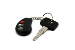 Key. Car keys with remote control on a white background royalty free stock photography