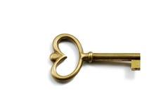 Key. Isolated old key on white background Stock Image