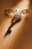 Key. The key to Finance Stock Photo