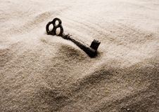 Key. Holiday beach concept -sand key Royalty Free Stock Photography