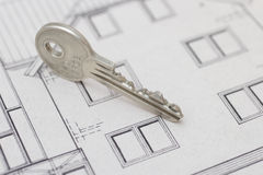 Key. For the house on plan Royalty Free Stock Photo