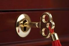 Key. To the treasure chest Royalty Free Stock Photos