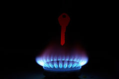 Key above gas Royalty Free Stock Images