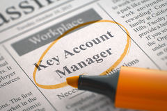 Key Account Manager Hiring Now. Stock Image