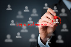 Key account manager. Human resources officer (headhunter, personnel) looking for a key account manager Stock Photos