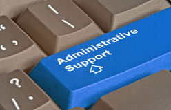 Key for administrative support. Keyboard with key for administrative support Stock Image