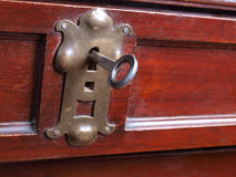 Key for antique furniture four Stock Image