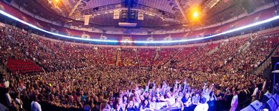 Key Arena packed with fans for Bumbershoot Royalty Free Stock Photo
