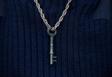 Key around the neck Royalty Free Stock Image