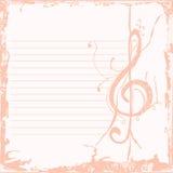 Key bakgrund för musik Arkivfoton