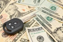 Key on banknotes. Royalty Free Stock Photography