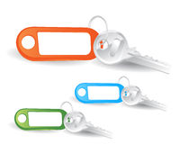 Key with banner Royalty Free Stock Photos
