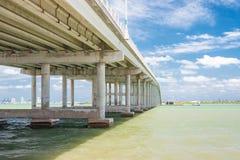 The Key Biscayne bridge in Miami Royalty Free Stock Photos