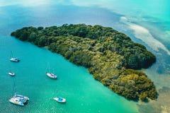 Key Biscayne heart island. Island in a shape of heart, Key Biscayne Florida stock photo