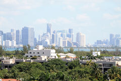 Key biscayne and Miami skyline Stock Photography