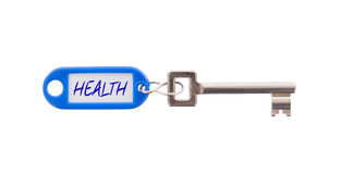 Key with blank label isolated Stock Photo