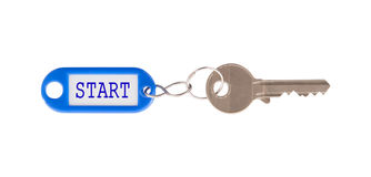 Key with blank label isolated Royalty Free Stock Photos